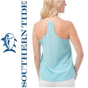 NWT Southern Tide Chloe Silk Cami Crystal Blue 4